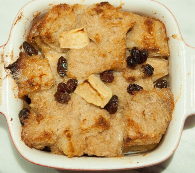 Apple and Raisin Bread Pudding ©OliveandRuby.com