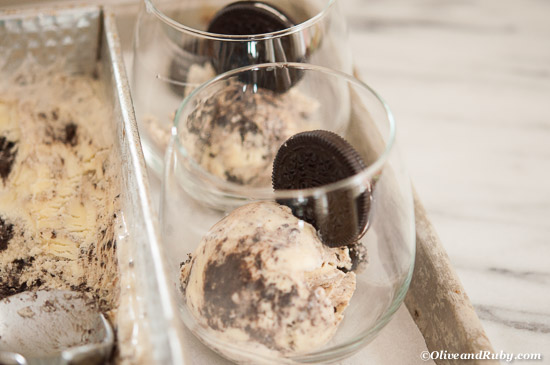 Cookies and Cream Ice Cream ©OliveandRuby.com