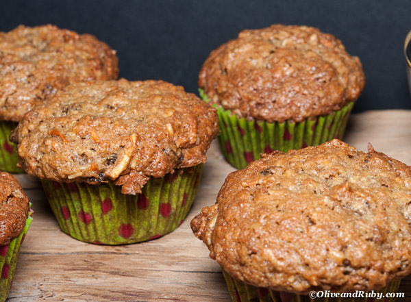 Morning Glory Muffins (c)OliveandRuby.com