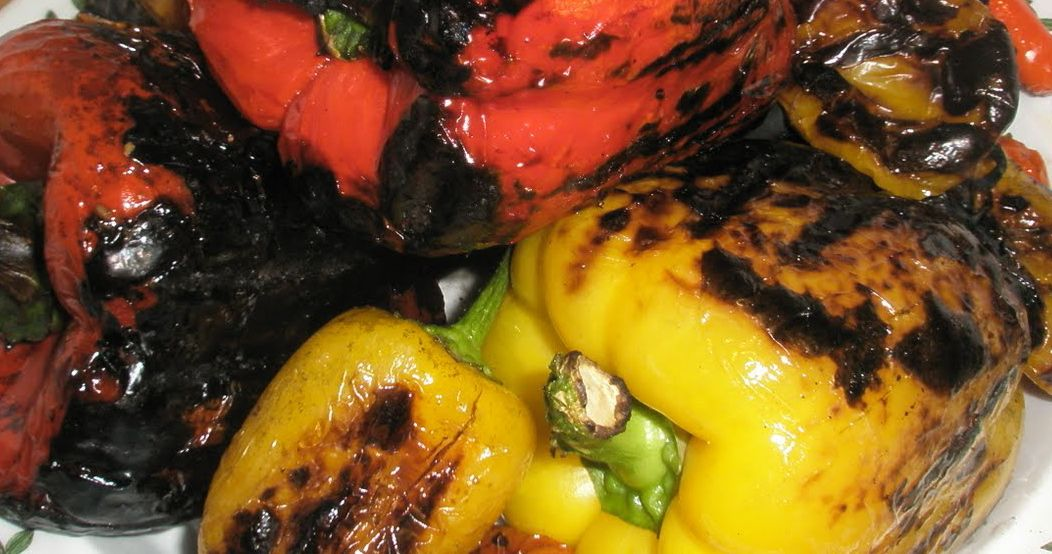 Marinated Roasted Red Bell Peppers Recipe — Dishmaps