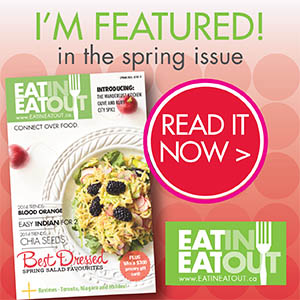 I am featured in Eat In Eat Out
